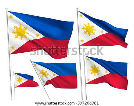 philippines vector flags set 5