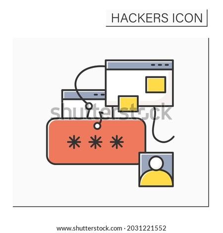 phishing color icon password