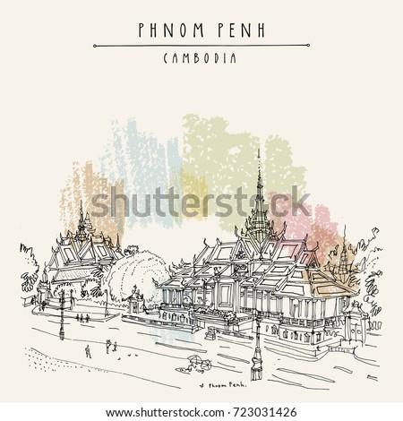 phnom penh cityscape  cambodia
