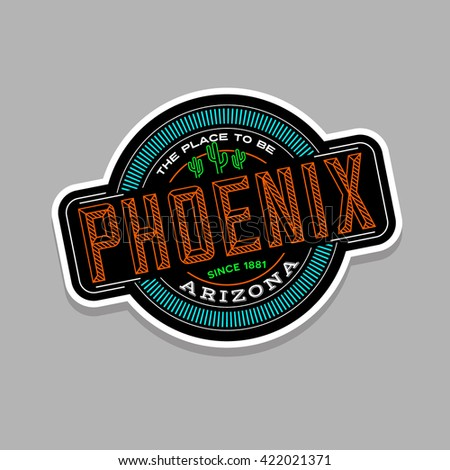 phoenix  arizona linear emblem