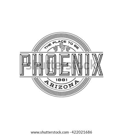 phoenix  arizona linear emblem...