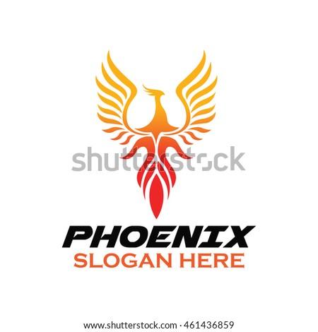 Vector Images Illustrations And Cliparts Phoenix Bird Logo Template Hqvectors Com