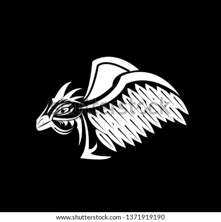 a3a50509460cd phoenix bird logo with eagle tattoo design of falcon silhouette and tribal  wing