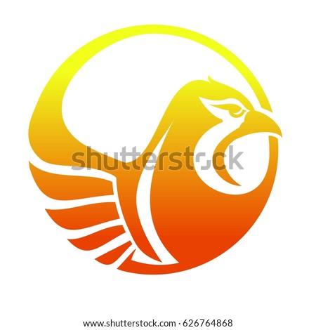 phoenix logo burning bird