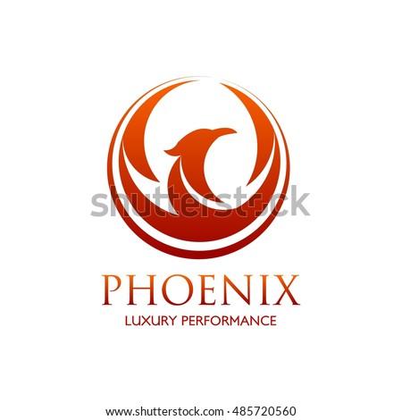 Phoenix logo design template. Vector Illustration