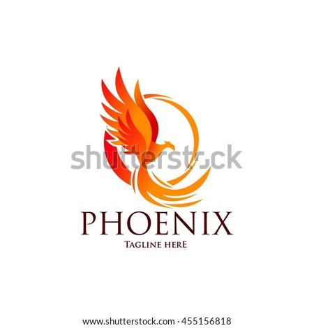 phoenix logo template  fire