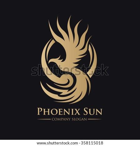 Phoenix Luxury Gold Logo Template