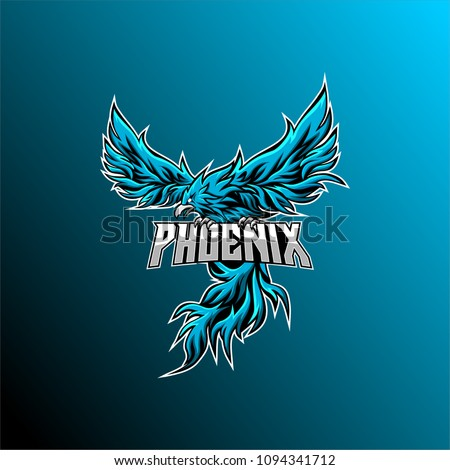phoenix mascot logo, gaming logo, team and e sport logo