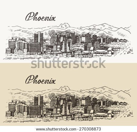 phoenix skyline  big city...
