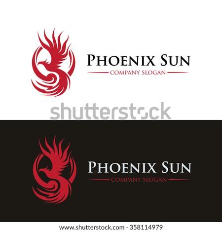 Phoenix Sun Logo Template