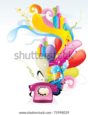 phone abstract color vector