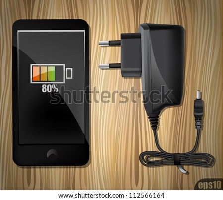 Phone and Mobile charger eps10