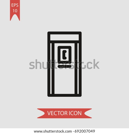 Phone booth  vector icon, simple telephone symbol sign, modern vector illustration for web, mobile design