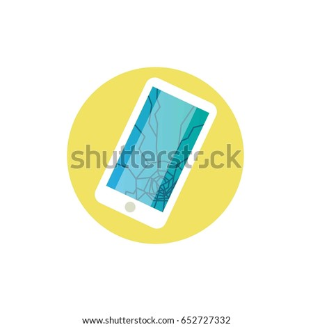 phone broken vector icon phone