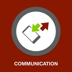 phone call icon, phone symbol - communication icon, mobile illustration