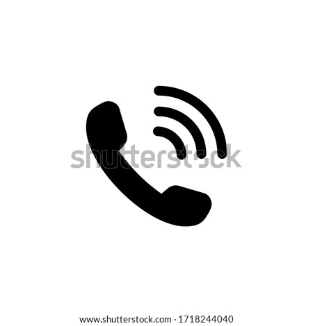 Phone call icon. Telephone icon symbol illustration