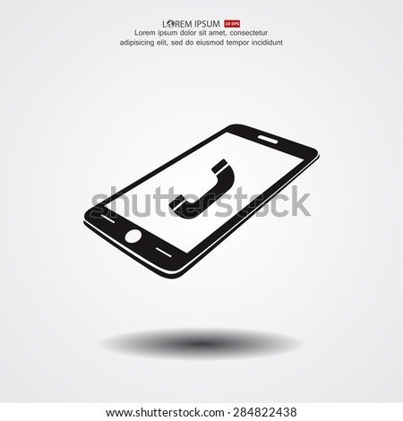 phone call icon vector eps 10