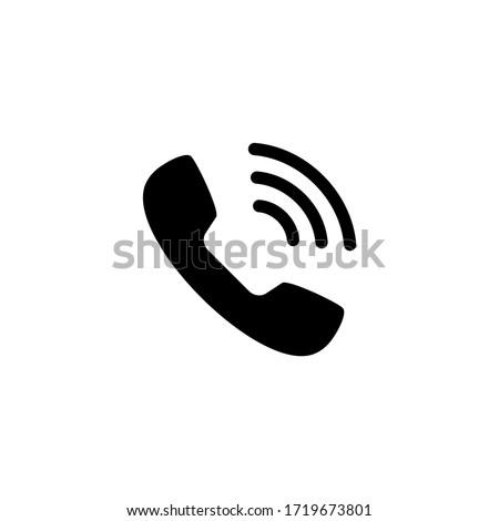 Phone call icon vector. Telephone icon symbol isolated