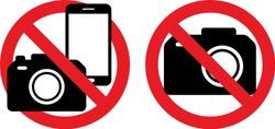 Phone, call, sound and camera ban Sign