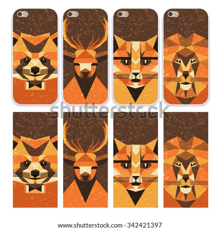 phone case collection flat