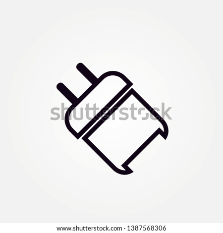 Phone Charger icon. Charger icon. design charger head. Smartphone USB Charger Adapter. Vector outline icon isolated on white background.
