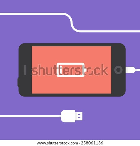 phone charging  flat icon