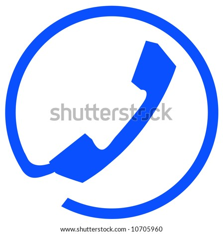phone connection symbol or icon on white background - vector