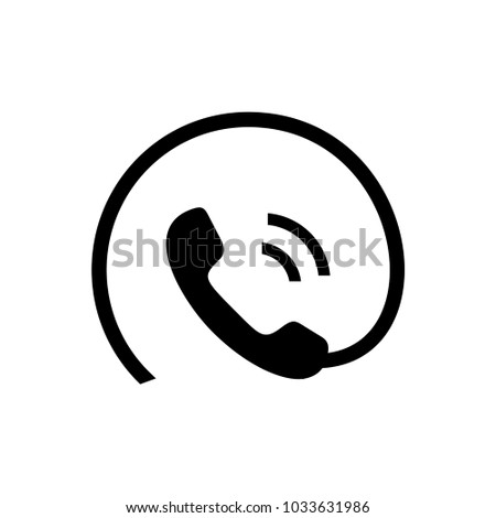 Phone contact vector icon