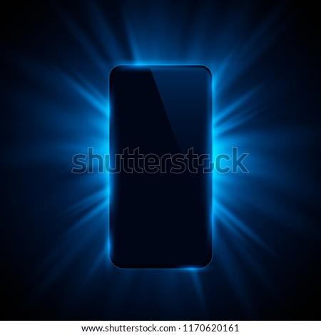 Phone cover color design modern background. Vector illustration