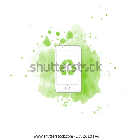 phone ecology icon green