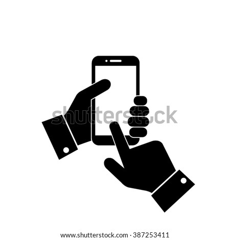 phone hands icon phone hands