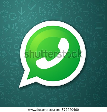 phone handset in speech bubble vector messenger icon