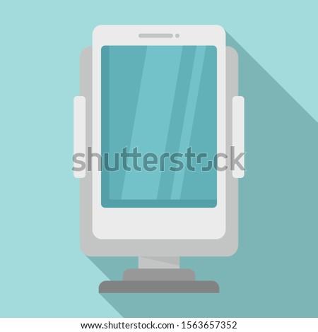 Phone holder accessories icon. Flat illustration of phone holder accessories vector icon for web design