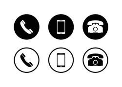 Phone icon, Call icon, smartphone icon vector design