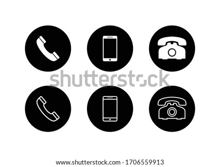 Phone icon, Call icon, smartphone icon vector design