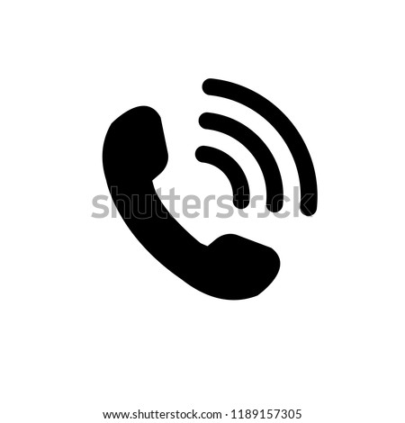 Phone icon in trendy flat style isolated on white background.