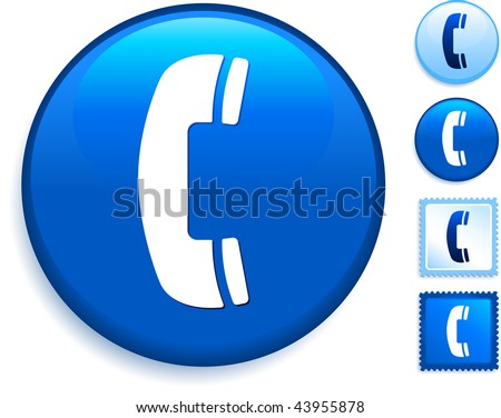 Phone Icon on Internet Button Original Vector Illustration