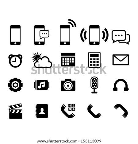 icon set 库存矢量插图