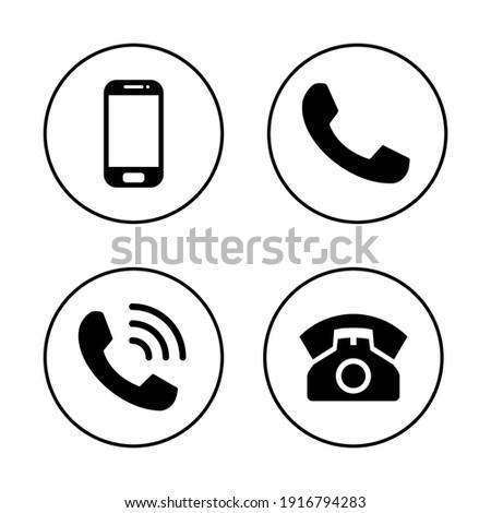 Phone icon set. Call icon vector. telephone symbol