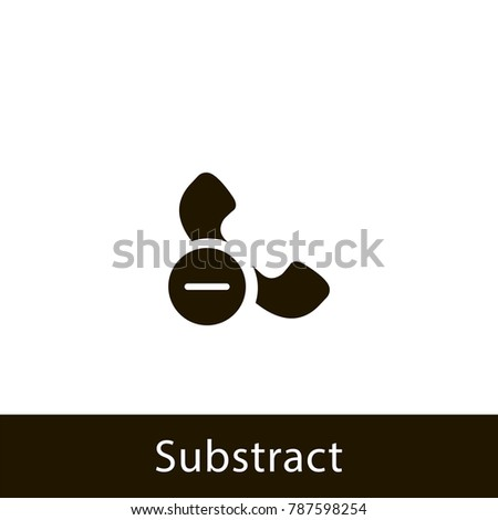 phone icon. substract phone. sign design