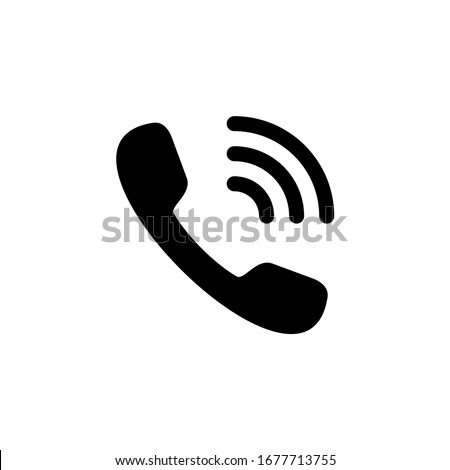 Phone icon, telephone symbol. Call icon vector illustration.