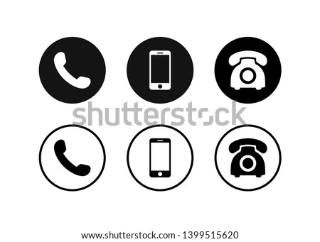 Phone icon vector. Set Telephone and handphone symbol illustration