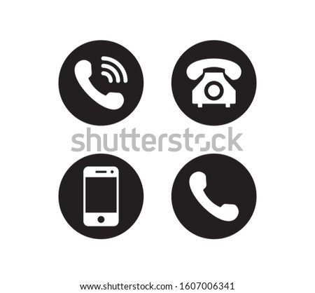 Phone icon vector. Smartphone and telephone symbol pack