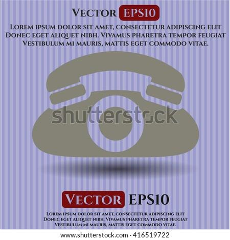 phone icon vector symbol flat eps jpg app web concept website