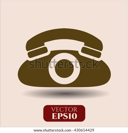 phone icon vector symbol flat eps jpg app web concept website