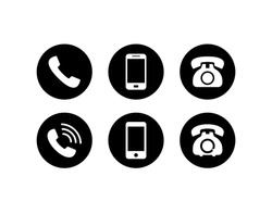 Phone icon vector. Telephone and Mobile Phone symbol pack