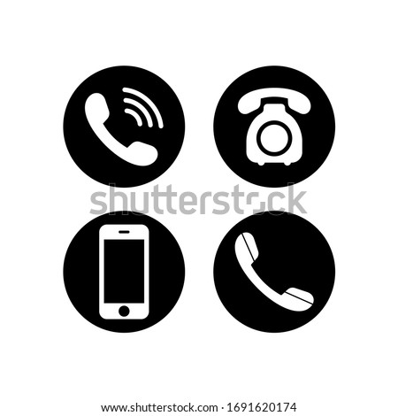 Phone icon vector. Telephone and Smartphone symbol pack