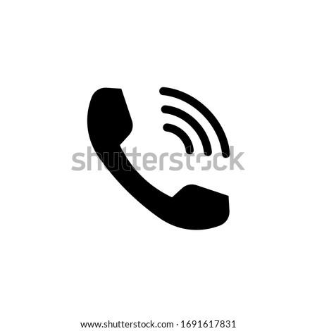 Phone icon vector. Telephone icon symbol. Call icon vector illustration