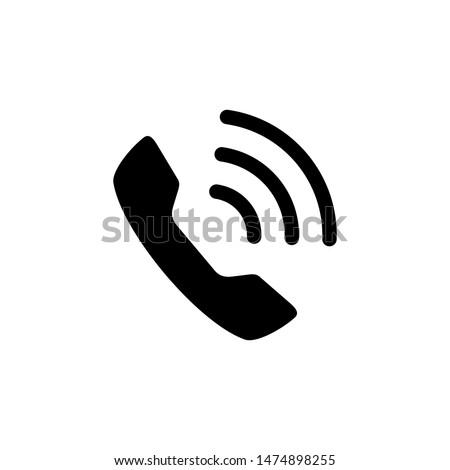 Phone icon vector. Trendy flat telephone symbol