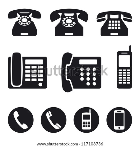 Phone icons, vector illustration - stock vector